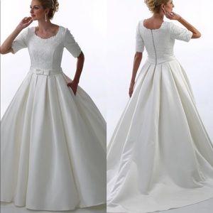 Dresses & Skirts - Beautiful Custom Made Modest Wedding Dress sleeves